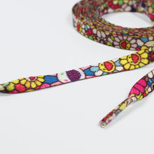 "Load image into Gallery viewer, 47"" Takashi Murakami ""Flower"" - Flat Shoelaces"