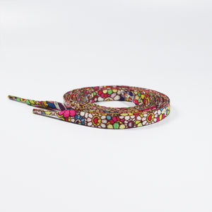 "47"" Takashi Murakami ""Flower"" - Flat Shoelaces"