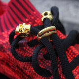 "Gold ""Gucci"" link shaped 18K Lace Locks"