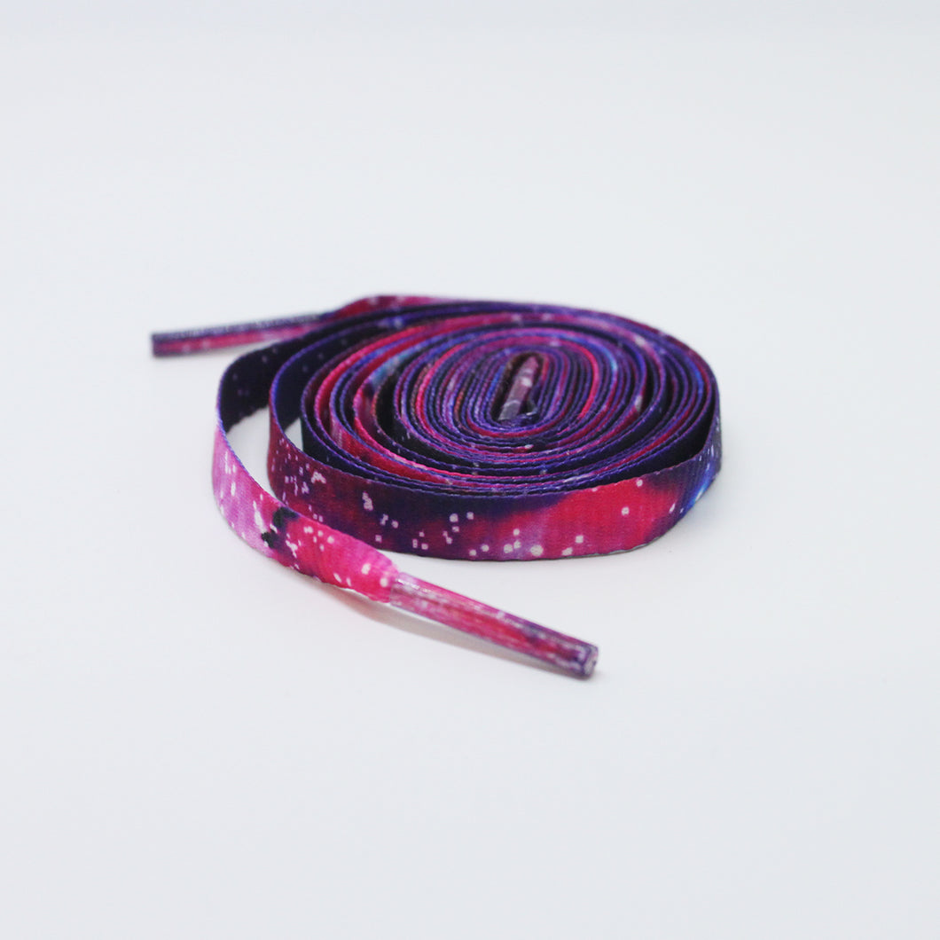 Galaxy flat shoelaces in 47 inch and 54 inch lengths