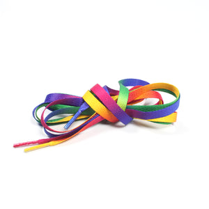 Printed Shoelaces - Gradient / Rainbow Flat Shoelaces
