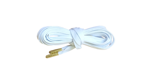 PRM Flat Wax Shoelaces with Gold or Nickel Aglets