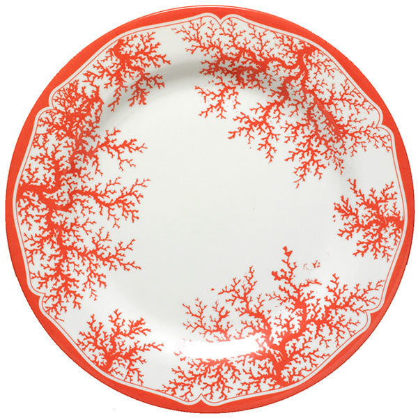 Coral Orange Dinner Plates - Set of Four