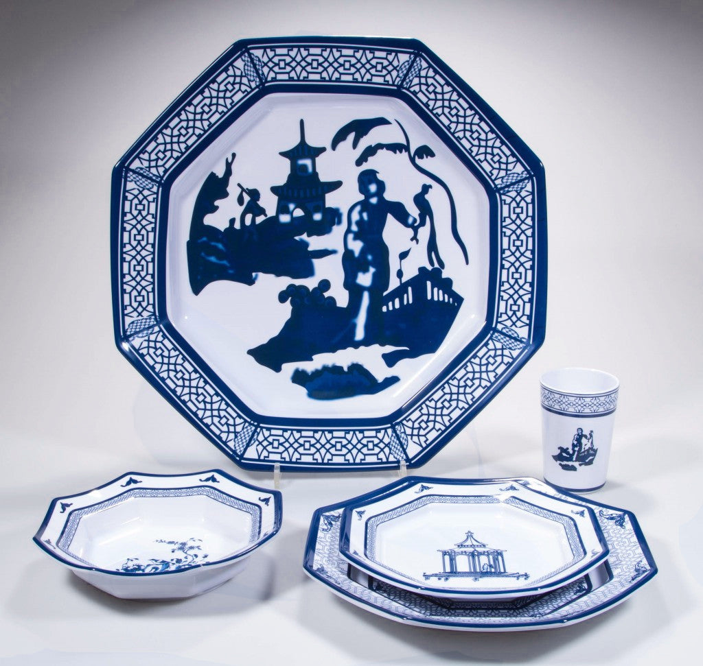 Dame Chinoise Dessert Plates - Set of Four