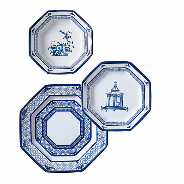 Dame Chinoise Dinner Plates - Set of Four