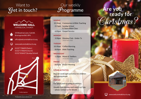 'Are you ready for Christmas?' - Christmas Evangelistic Leaflet