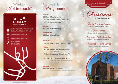 Christmas Evangelistic Leaflet - custom message