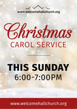 Christmas Carol Service Large Format Event Poster