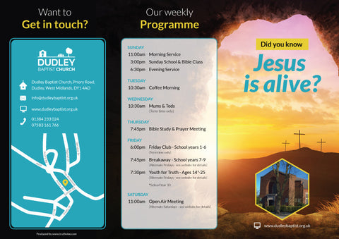 'Did you know Jesus is alive?' - Evangelistic Leaflet