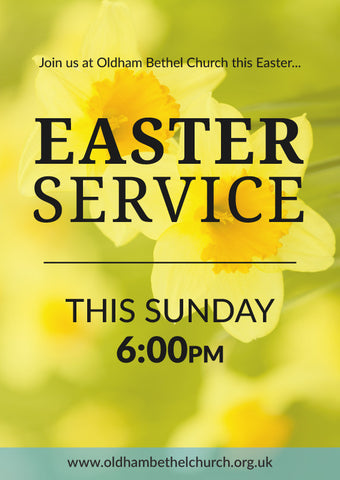 Easter Service Large Format Event Poster