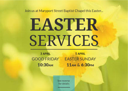 Easter Service Invitation Cards (A6)