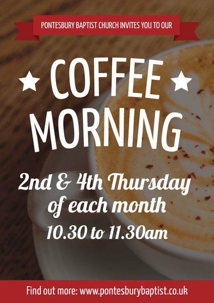 Coffee Morning Large Format Event Poster