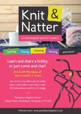 Knit & Natter Laminated Event Posters