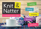 Knit & Natter Invitation Cards (A6)