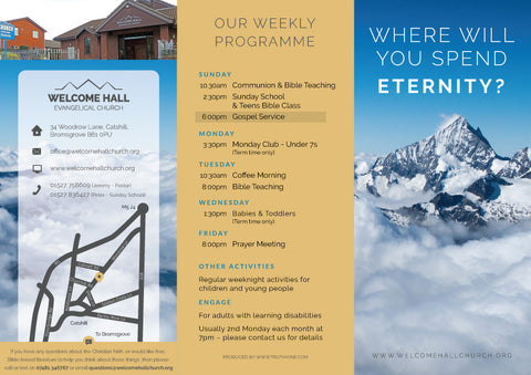 'Where will you spend eternity?' - Evangelistic Leaflet