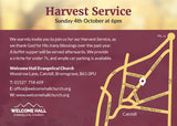 Harvest Service Invitation Cards (A6)