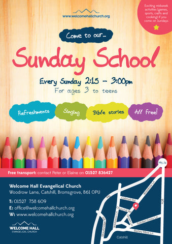 Sunday School Laminated Event Posters