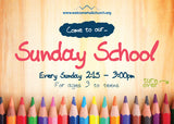 Sunday School Invitation Cards (A6)
