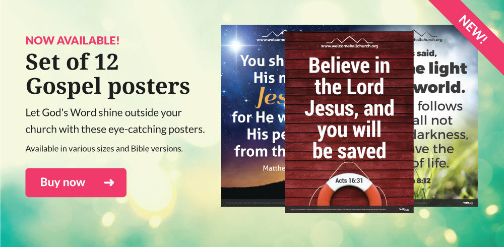 Set of 12 gospel posters now available