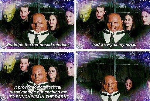 Strax and the red nosed reindeer