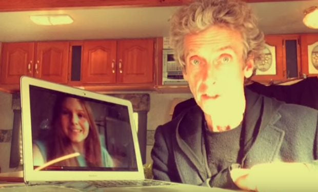 Peter Capaldi sent an incredible thank you message to Doctor Who fans who made him a birthday video