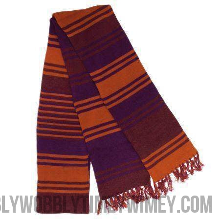 12 foot purple 4th doctor scarf - Doctor Who - Wibbly Wobbly Timey Wimey