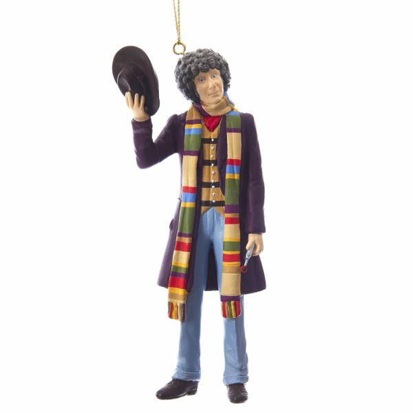 5 inch Tom Baker 4th doctor ornament - Doctor Who - Wibbly Wobbly Timey Wimey