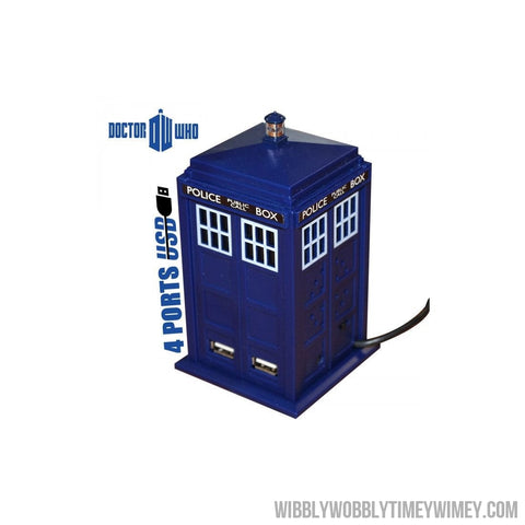 Doctor Who 11th Doctor Tardis 4 Port USB Hub - Doctor Who - Wibbly Wobbly Timey Wimey