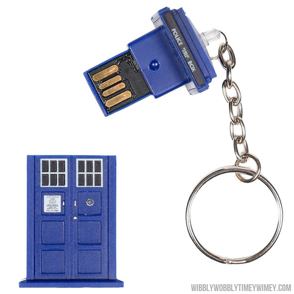 Doctor Who 16GB Tardis USB stick - NOW ON SALE-Electronics-Underground Toys-WibblyWobblyTimeyWimey.com-Doctor Who-Dr Who-tardis-Wibbly Wobbly Timey Wimey