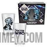 Doctor Who Anniversary Second Doctor 16 oz. Glass Set of 2-Mugs, Cups, & Water Bottles-Entertainment Earth-WibbilyWobblyTimeyWimey.com Doctor Who