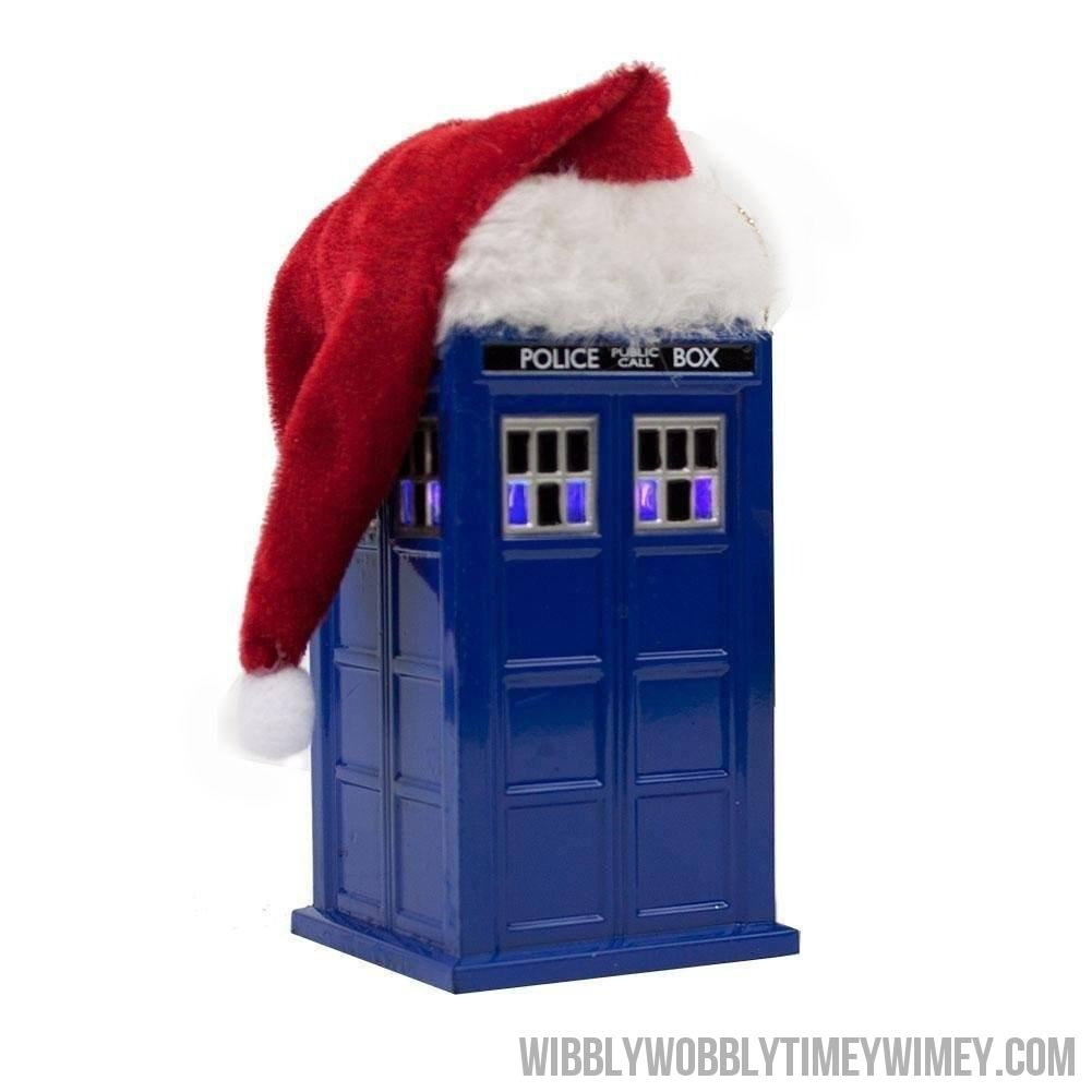 Doctor Who LED Tardis with Santa Hat Ornament - Doctor Who - Wibbly Wobbly Timey Wimey