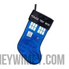 "Doctor Who TARDIS Stocking 19"" - Doctor Who - Wibbly Wobbly Timey Wimey"