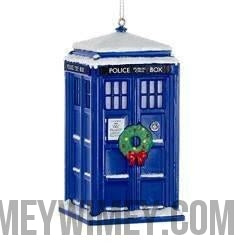 Doctor Who TARDIS Wreath Ornament-Kurt Alder-WibblyWobblyTimeyWimey.com
