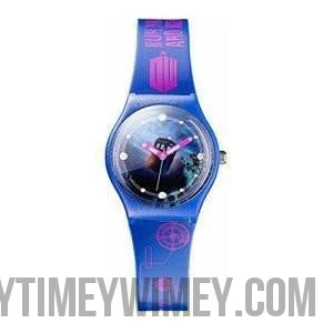 Doctor Who Watch – Tardis Face – Ladies Wristband – Run You Clever Boy - Doctor Who - Wibbly Wobbly Timey Wimey