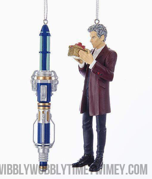 Doctor Who™ 12th Doctor and Sonic Screwdriver Ornaments, 2-Piece Set