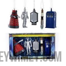 Doctor Who™ Miniature Ornaments, 5-Piece Box Set - Doctor Who - Wibbly Wobbly Timey Wimey