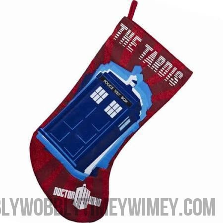 Doctor Who™ Red Tardis 11th Doctor Stocking - Doctor Who - Wibbly Wobbly Timey Wimey