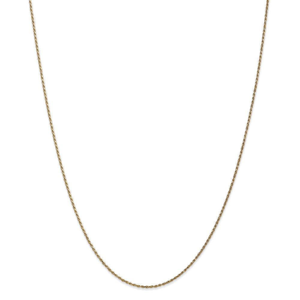 14k Yellow Gold 1.15mm Thick Machine-Made Diamond Cut Rope Chain