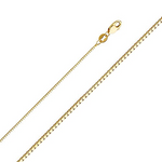 "Stunning New 14K Solid Yellow Gold Box Chain Necklace with Secure Lobster Lock Clasp 16"" length"