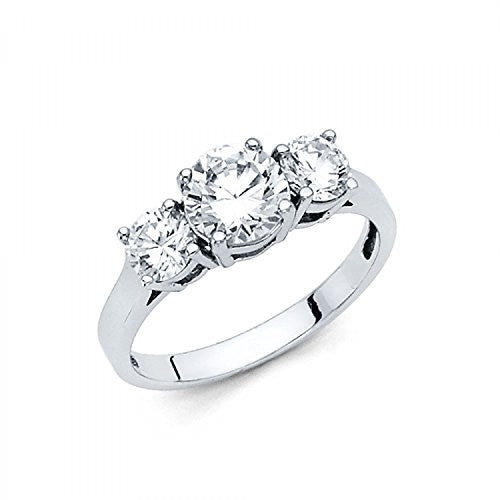 14k Solid White Gold - Wedding