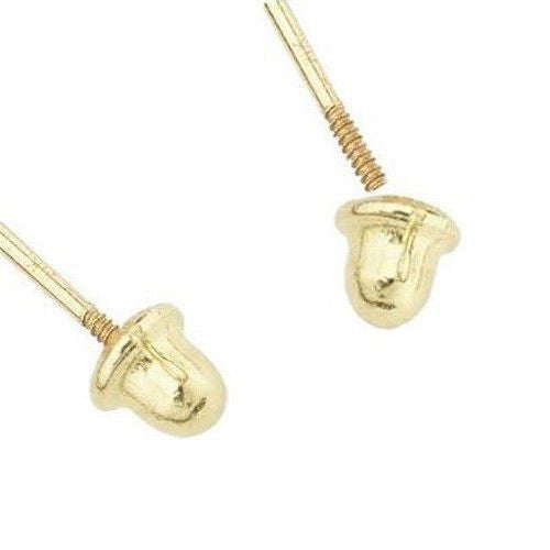 Solitaire Stud Earrings - Yellow Gold