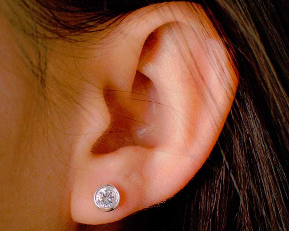 White Gold Earrings - Stud