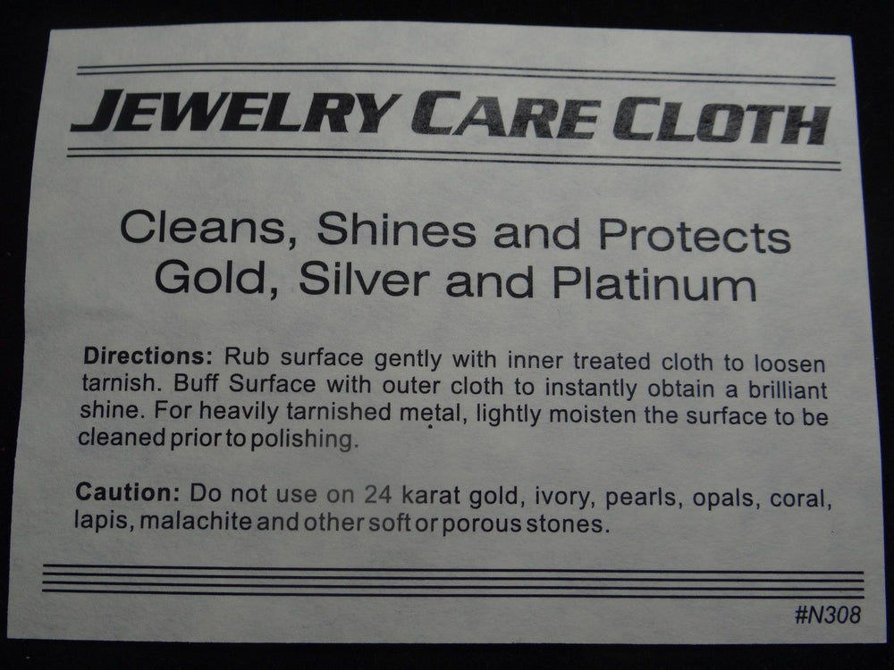 Jewelry Cleaning Cloth - Gold