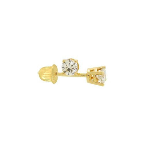 Solitaire Stud Earrings - Zirconia