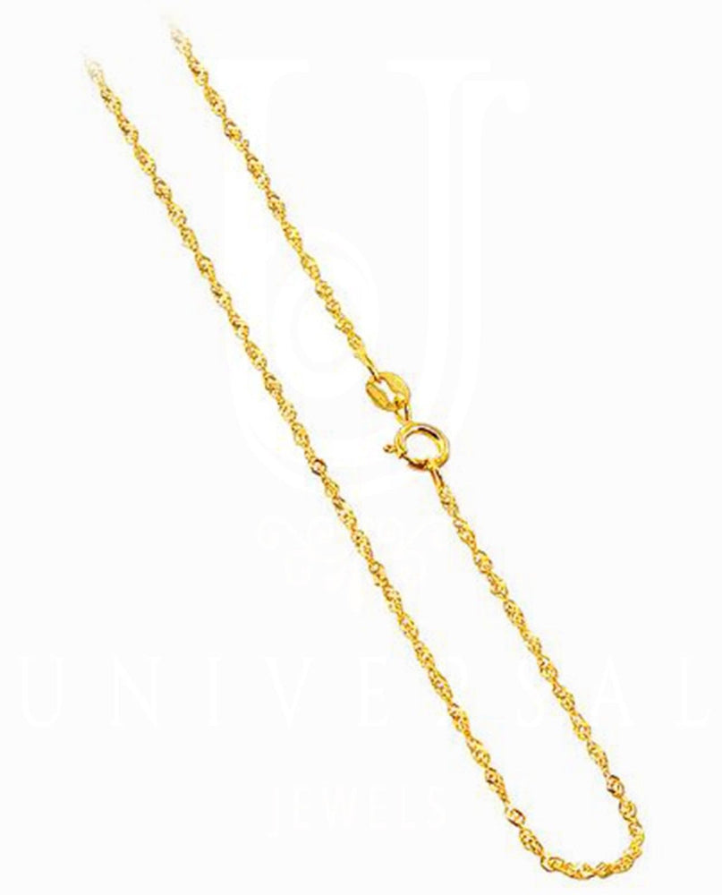 Gold Chain 10K Yellow Singapore Pendant Necklace 0.94MM 16 18 20 24 26 Inches