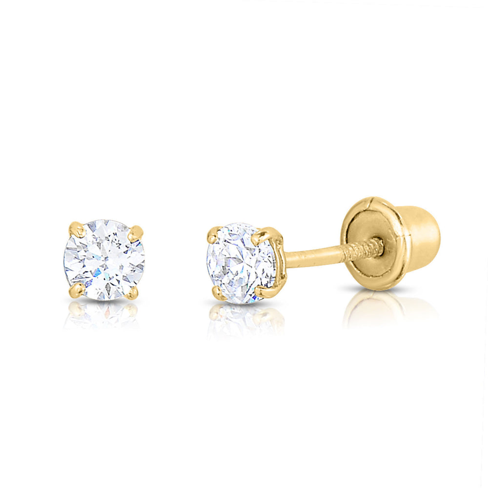 Solitaire Stud Earrings - Cubic