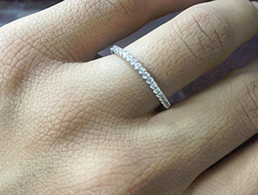 2.30 CT Round Cut Engagement Ring band set in Solid 14k White Gold Bridal Halo
