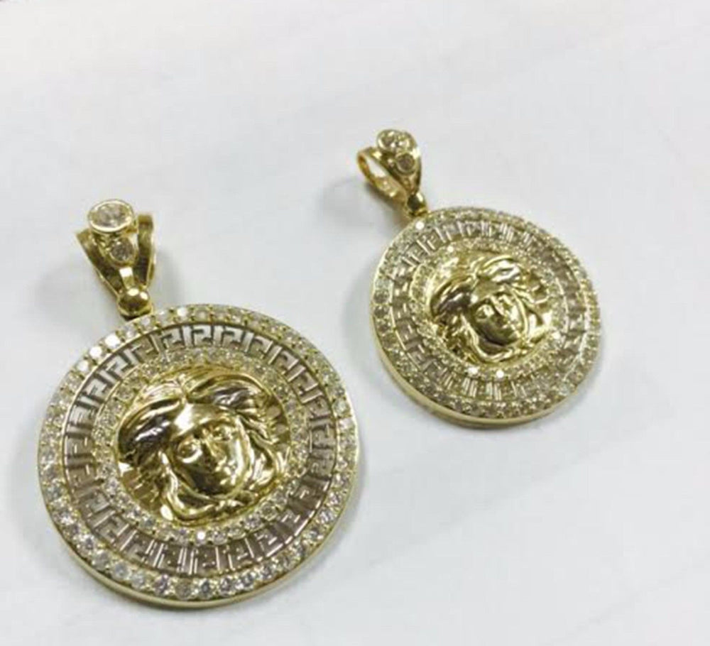 pendant gold collections yellow products pendants chain syk medaillon medusa solid with