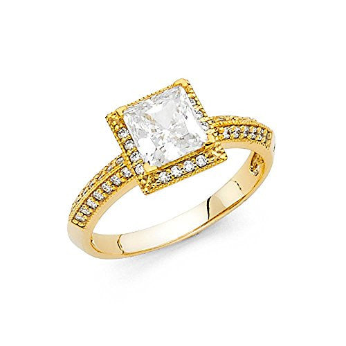 new-14k-princess-center-round-side-stone-1-0ct-yellow-gold-engagement-ring-3mm