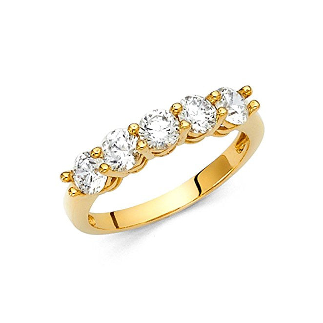 14k Yellow Gold Wedding Band-14K